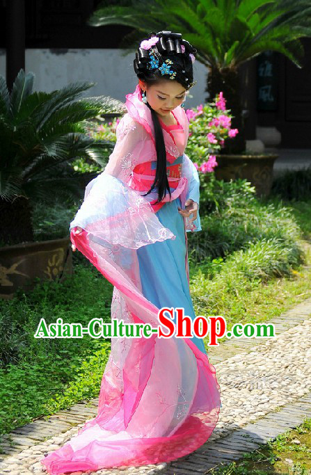 Ancient Chinese Palace Princess Pink Costume for Children