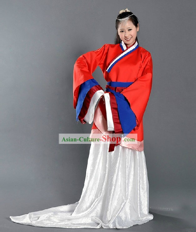 Ancient Chinese Han Fu Dance Costumes for Women