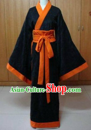 Ancient Chinese Black Han Fu Clothing for Women