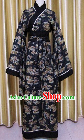 Ancient Chinese Han Dynasty Dragon Clothing for Men