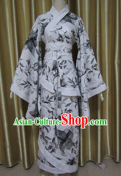 Ancient Chinese Han Dynasty Oil Painting Clothing