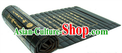 Traditional Chinese Inscribed Bamboo-slips