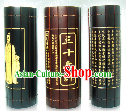 Traditional Chinese Inscribed Bamboo Scroll