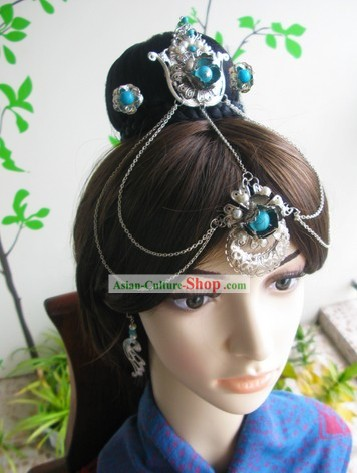 Ancient Chinese Fairy Lady Hair Accessories and Earrings