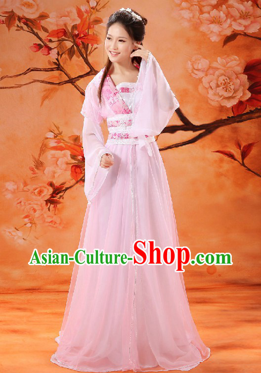 Ancient Chinese Fairy Pink Dance Costumes for Women
