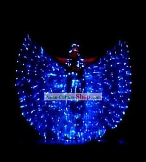 Electric LED Lights Luminous Butterfly Dancing Costume Complete Set
