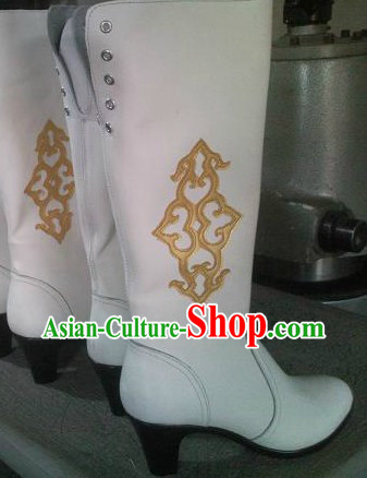 Handmade Classic Mongolian Cowhide Long Boots for Women