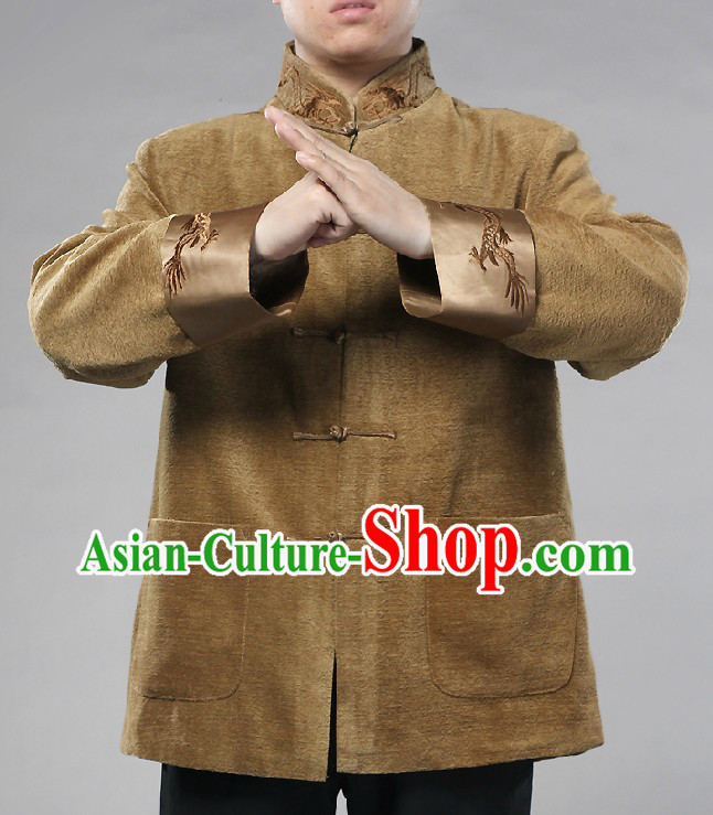 Traditional Chinese Dragon Mandarin Blouse for Men