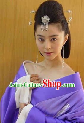 Ancient Chinese Beauty Hairpin and Earrings Set