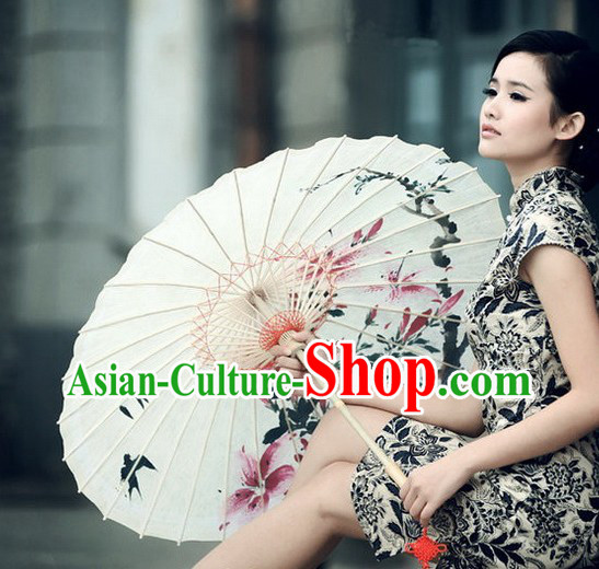 Traditional Chinese Handmade Spring View Umbrella