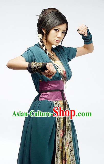 Ancient Chinese Chivalrous Girl Costumes Complete Set