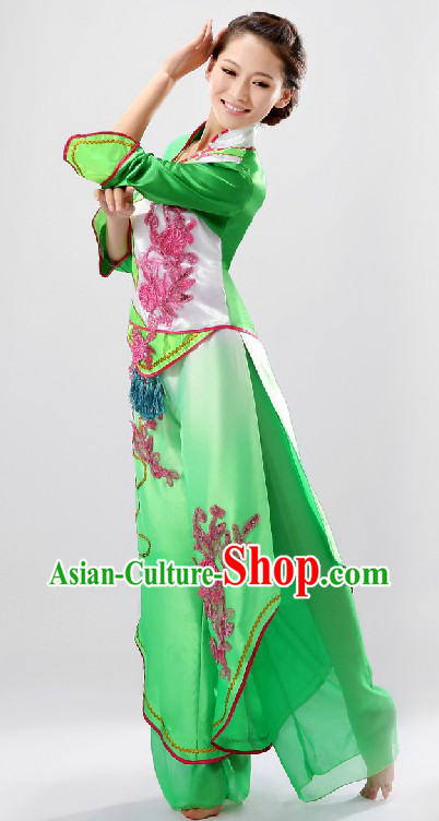 Chinese Classical Fan Dance Costume for Women