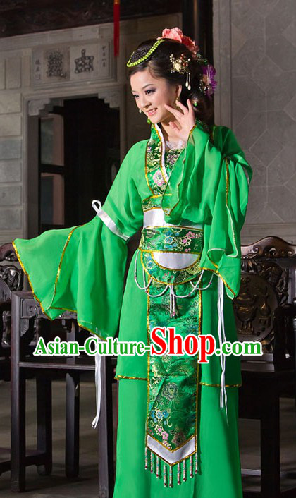 Ancient Chinese Green Lady Costumes
