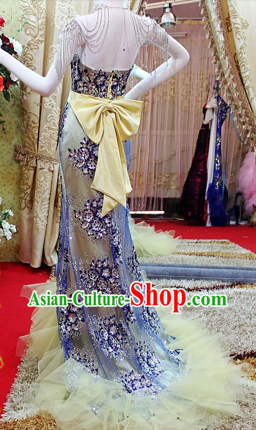 Stunning Shinning Handmade Evening Dress for Women