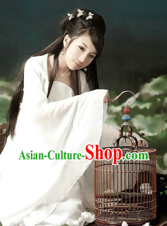 Ancient Chinese White Fairy Clothes for Women