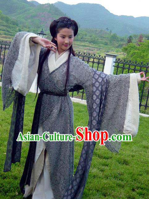 Ancient Chinese Gu Zhuang Character Zhao Linger Costume for Women