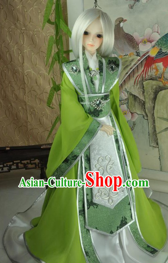 Ancient Chinese Green Prince Clothes for Men