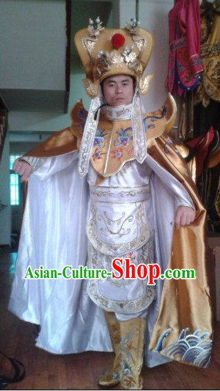 Traditional Chinese Change Mask Costume Hat Boots Masks Complet Set for Men