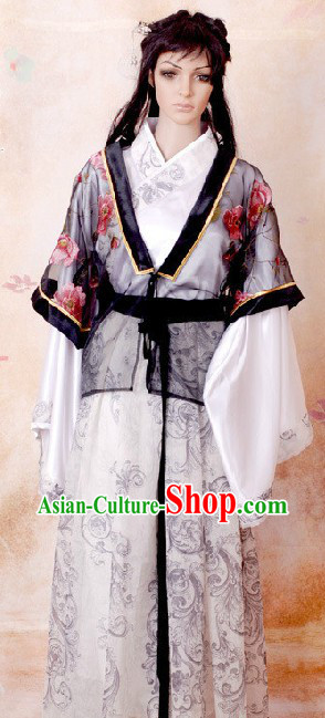 Ancient Chinese Tang Dynasty Costume Complete Set for Women
