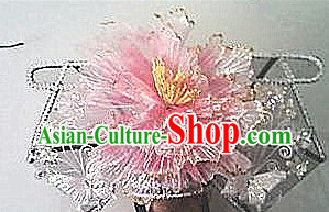 Ancient Chinese Qing Dynasty Manchu Princess Pink Hat
