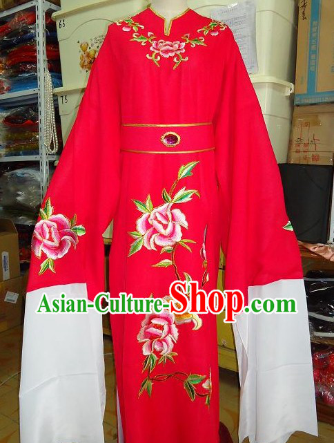 Ancient Chinese Opera Bao Yu Red Costume for Men