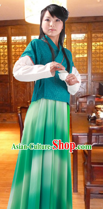 Ancient Chinese Tea Ceremony Costume for Women