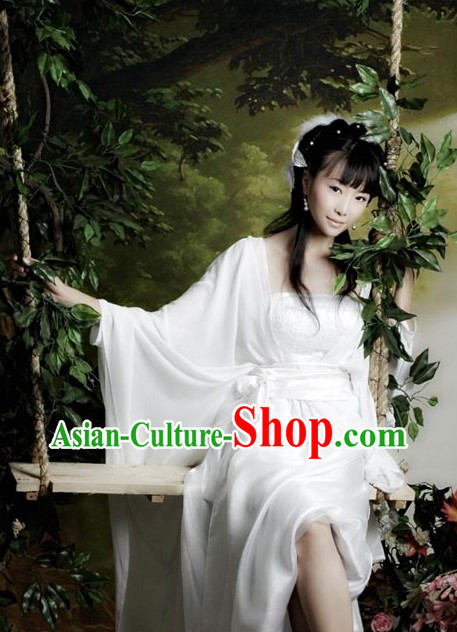 Chinese Classic White Fairy Costume for Women