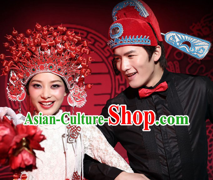 Chinese Classical Wedding Crowns for Men and Women