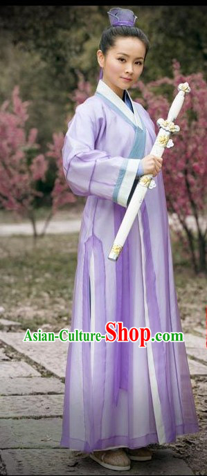 Ancient Chinese Wudang Swordswoman Costume