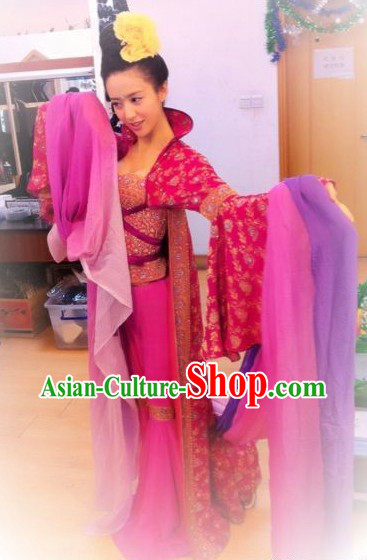 Ancient Chinese Palace Beauty Dance Costume for Women