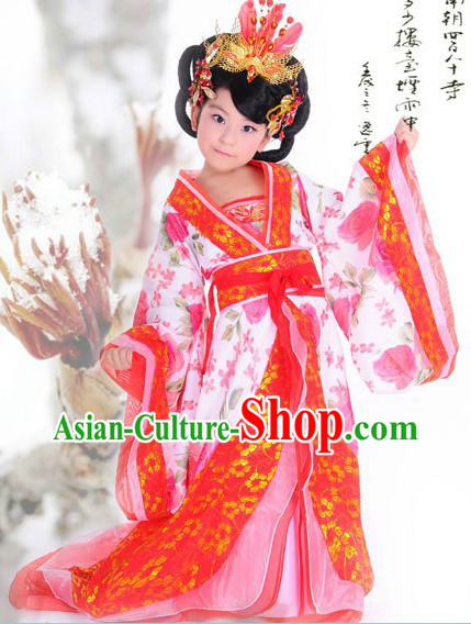 Ancient Chinese Hanfu Guzhuang Clothing for Children