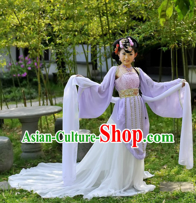 Ancient Chinese Fairy Long Sleeve Costumes for Kids