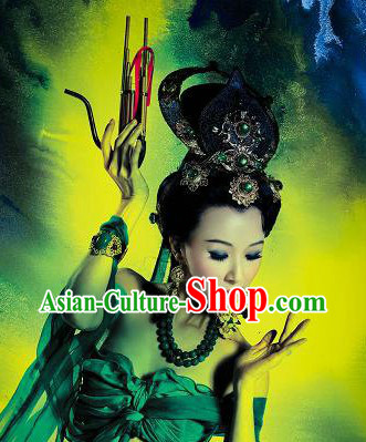 Ancient Chinese Palace Feitian Fairy Hair Accessories Complete Set for Women