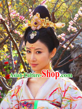 Ancient Chinese Princess Hair Accessories Complete Set for Brides