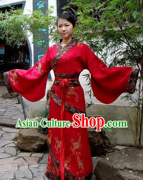 Traditional Chinese Hanfu Wedding Dress Complete Set for Women