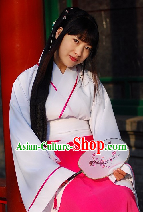 Ancient Chinese Han Dynasty Color Transition Clothes for Women
