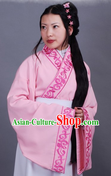 Ancient Chinese Pink Embroidered Princess Clothing
