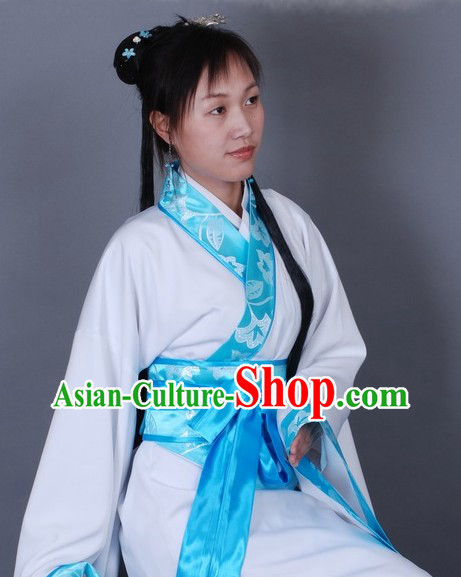 Chinese Classical Hanfu White Dance Costume for Women
