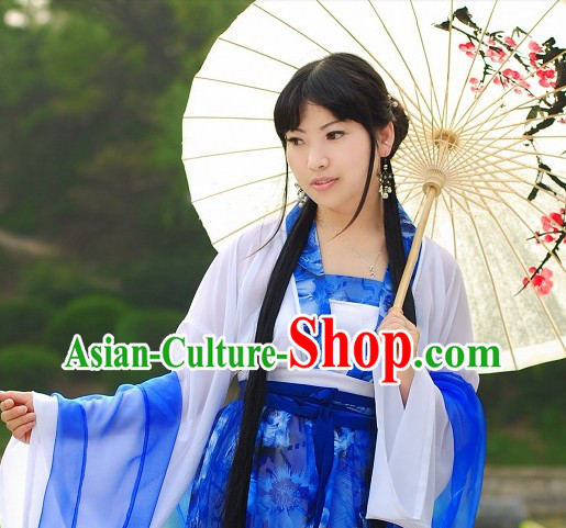 Chinese Classical Umbrella Dance Costumes for Women