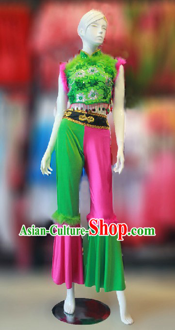 Traditional Chinese Han Minority Dance Costumes for Women