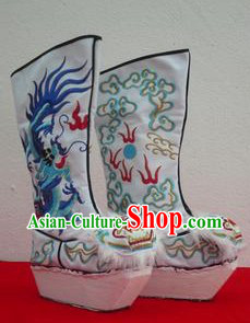 Traditional Chinese Peking Opera and Bian Lian Performance Handmade Dragon Boots