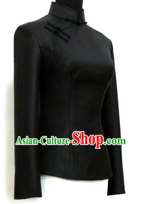 Minguo Time Black Tang Suit for Women