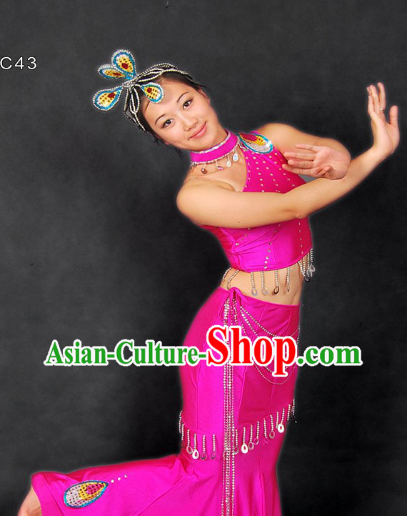 Traditional Chinese Dai Minority Dance Costume for Women