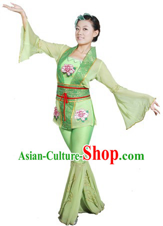 Chinese Classical Dance Costume and Head Piece for Women