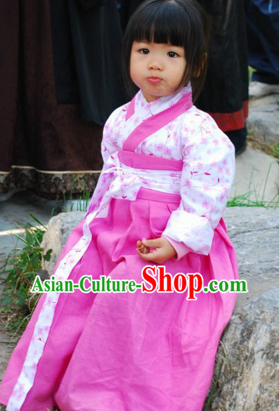 Ancient Chinese Han Clothing for Kids
