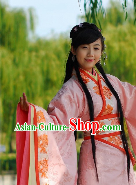 Ancient Chinese Han Dynasty Princess Clothing for Lady