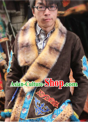 Traditional Chinese Tibetan Blouse for Men
