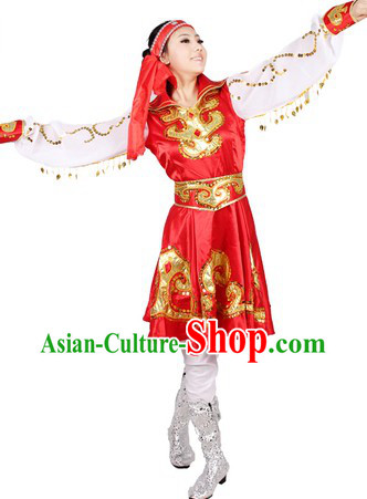 Traditional Chinese Female Mongolian Costumes for Women