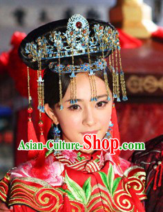 Qing Dynasty Princess Wedding Headpiece for Women