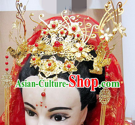 Ancient Chinese Bride Wedding Phoenix Hair Accessories for Women